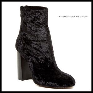 FRENCH CONNECTION BLACK ANKLE BOOTS